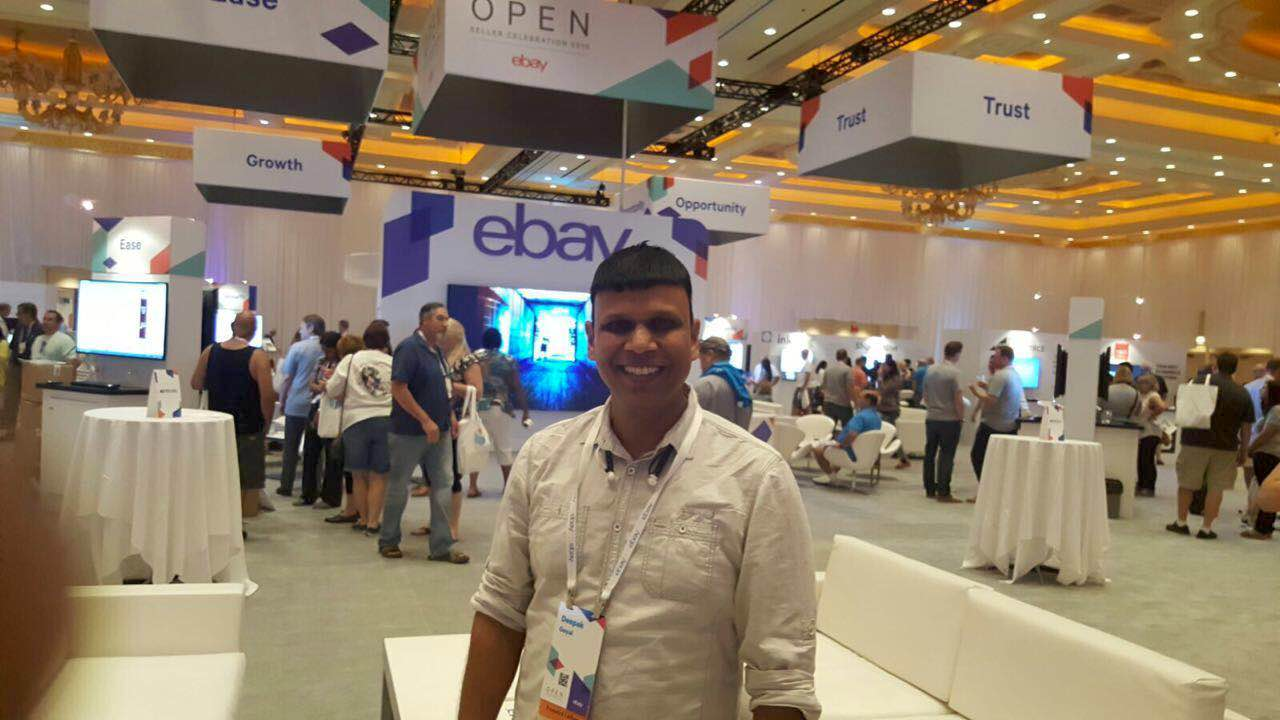 Deepak Goyal, Co Founder and CTO of eZdia at eBay OPEN