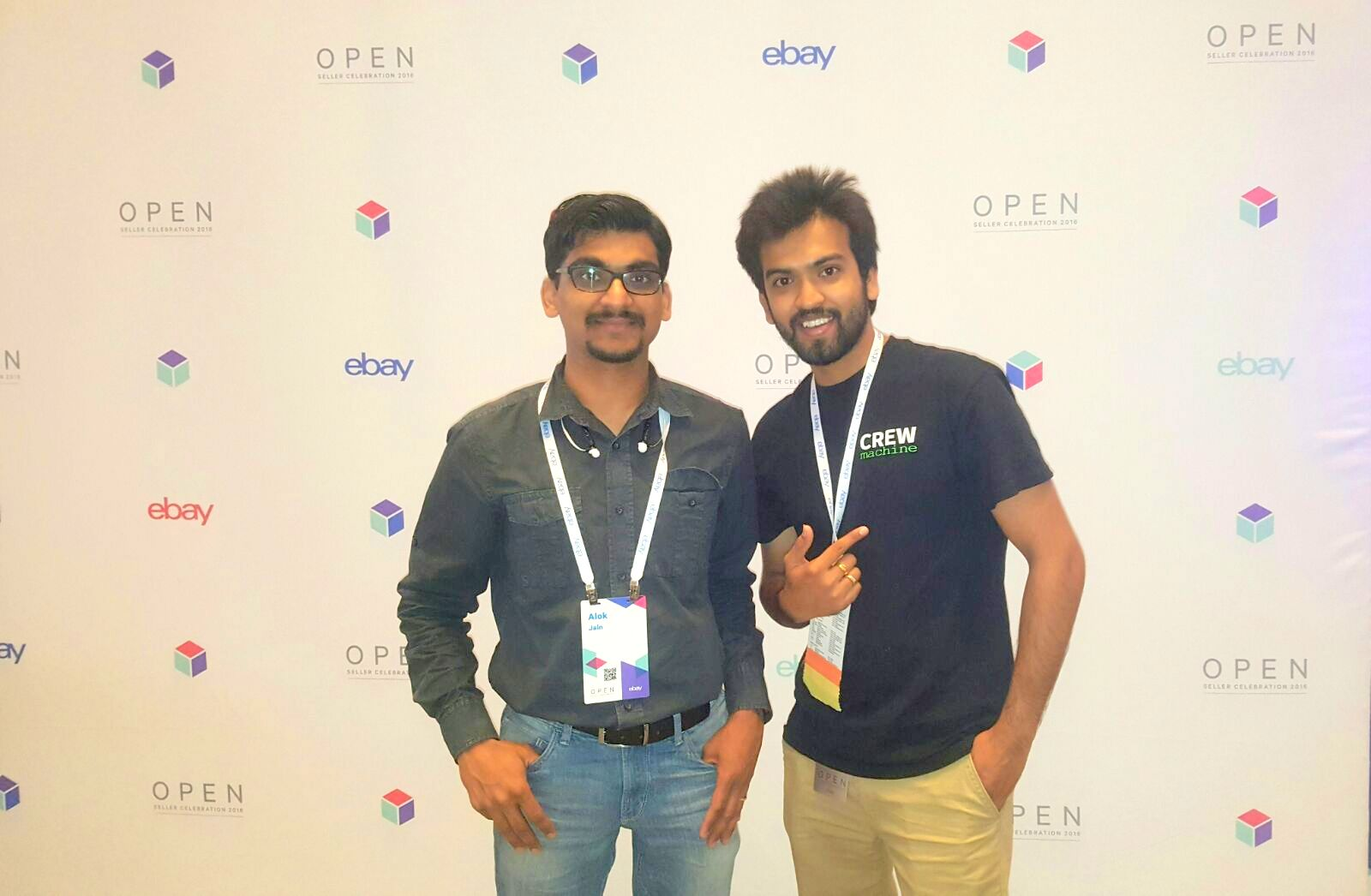 Alok and Vaibhav at eBay OPEN 2016