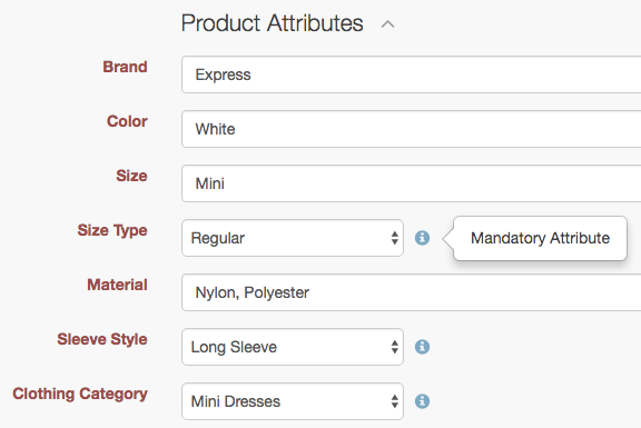 Bulk update on missing product attributes