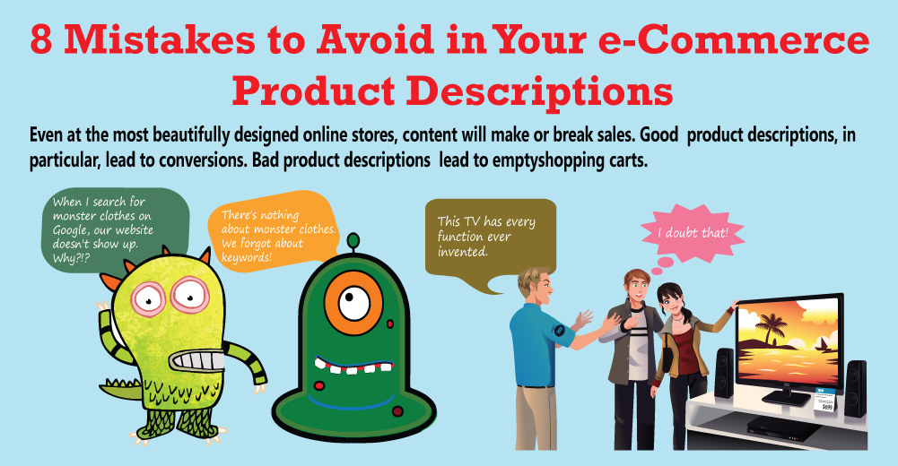 [Infograph] 8 Mistakes to Avoid in Your E-commerce Product Descriptions